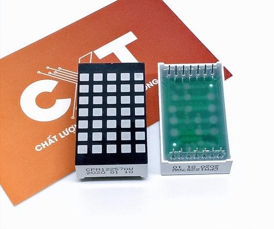 Led matrix 5x7 vuông 3x3mm CPM12257Ax
