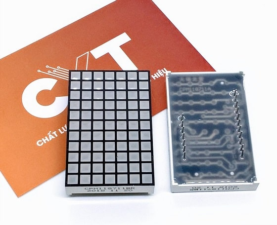 Led matrix 7x11 vuông 3.4x3.4mm CPM118711Bx