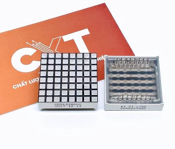 Led matrix 8x8 vuông sáng cam 3x3mm K chung